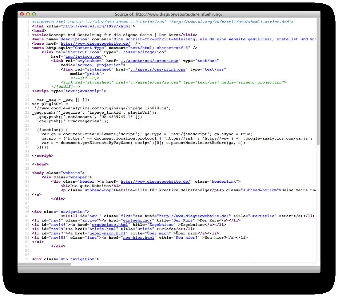 Website Hilfe für Selbständige   Was ist eigentlich HTML